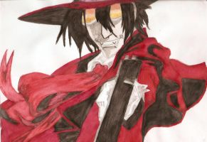 Watercolour Alucard by UndesiredValentine