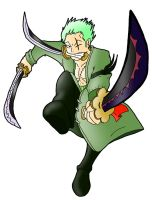 RM vs Jump Char Art: Zoro by Derede