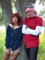 FLCL-Haruko and Mamimi by Undead-Romance