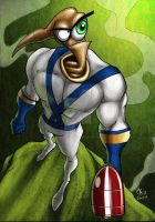 Earthworm Jim WHIPPY by scribblesartist
