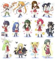 cute negima characters by Thousandthunderbolt