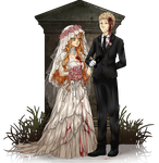 ILGB: Undead Bride and Groom by Everluffen