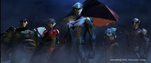 Gatchaman - early CG designs by W-Double