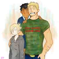 3 amigos and a shirt by pudding-diver