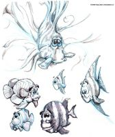 Fish sketches by gregjolly