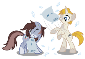 CM: Pillow Fight by JackiePhantom13