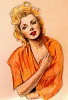 Marilyn Monroe in coloured pencil by lucigirl