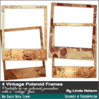 Free 4 Vintage Photo Polaroid Frames by pixelberrypie