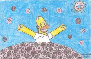 Homer's Donut Paradise by MarioSimpson1