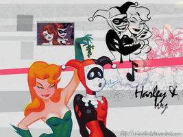 Harley And Ivy Wallpaper by TheRosePrince