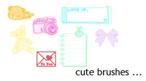 cute brushes by xsweetsugarx