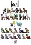 BG Ponies contestants by Assassin-or-Shadow