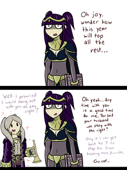 birb shows up for dark lady's special day by JDandJC