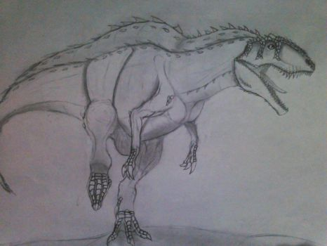 Acrocanthosaurus - Full Body by Fate-Darknu-Dragoon