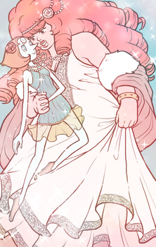 Rose and Pearl by aliceazzo