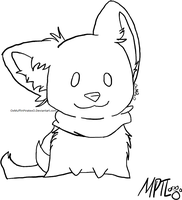 Puppy Lineart by MarbleMyst