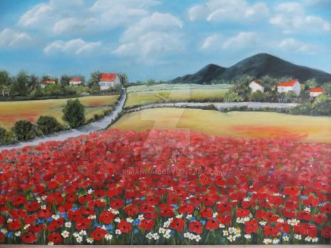Spring and Poppies by nerimandan