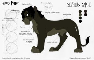 Severus Snape Model Sheet by kira617