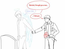Johnlock -I miss you (for mentalageof6) by Chibi-MsHollowfox