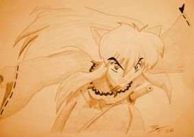 Inuyasha in action ^^ by LordSesshomaru93