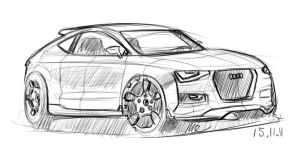Audi A3 Sketch by MartinEDesign