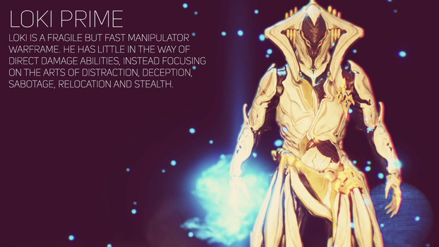 Warframe: Loki Prime Wallpaper by TheSpaceKnight