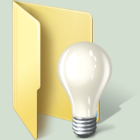 lightbulb windows 7 folder by Terraromaster