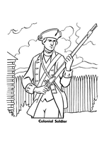 Colonial Soldier by Writer-Colorer