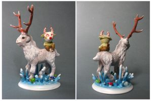 the faun and the deer paint by yotaro76