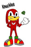 knuckles pose 2 in colour by hero-of-time