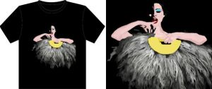 Burlesque fan T-shirt by jrobbo