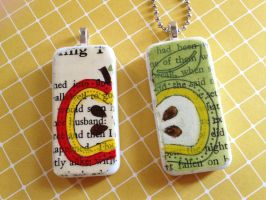 Apple Story Domino Pendants by tencrowns-studio