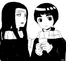 Neji and lee with a muffler by e92530