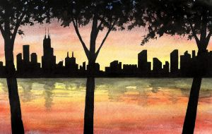 Chicago Lakefront wc by kilroyart