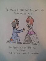Spanish Wedding Card Of Mia and Satoshi by Code-Sonic