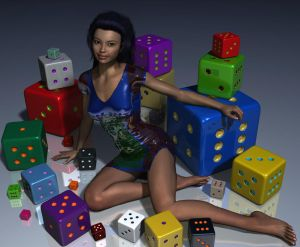 Girl and Dice by xmas-kitty