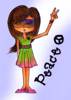 Peace- Girl by Xx-baCkUp-girl-xX