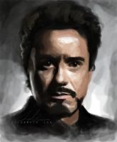 Tony Stark/Robert Downey Jr. by superfizz