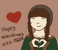 Valentines/thank you(??) card by mzza-art