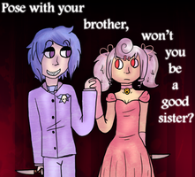 :VC: Pose With Your Brother by GlassFeline