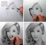 Taeyeon drawing WIP by MLS-art