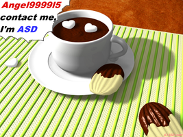 HOT Chocolate and cookies 3DCG by asdronin