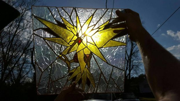 zapdos stained glass by cellocalypse