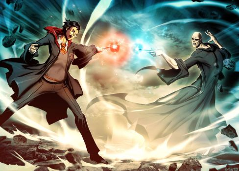 Harry Potter VS Voldemort by GENZOMAN