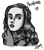 Hermione Tablet sketch by Shmivv