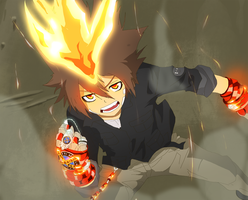Tsuna is ready to Battle - WIP by Rayjii
