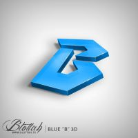 Blue B 3D by blottah