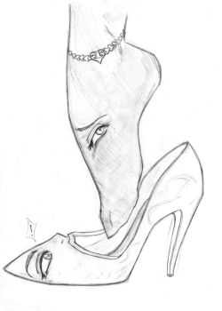 Shoe Girl by Anonymous--Friend