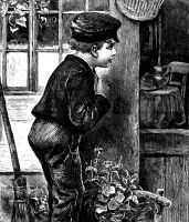1880 Engraving - Mirthless Boy by inspiredcreativity