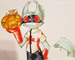 [PGV] Now Presenting, a Metal Pumpkin by Void-Shark